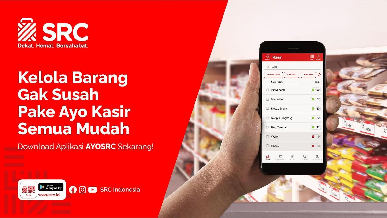 Aplikasi kasir toko AYO SRC Kasir
